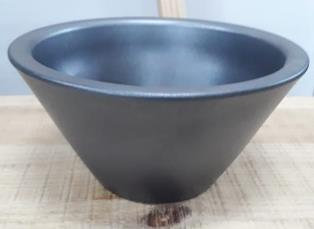 Ceramic Bowl Taper Helmer Pot Anthracite 21/12/10 CM