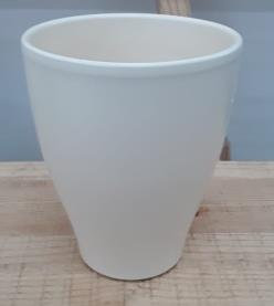 Ceramic Boule Orchid Pot Pearl/Off White Matt 14 CM