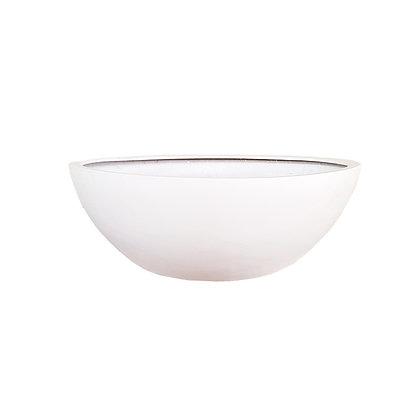 Fiber Stone Pot, Matt White
