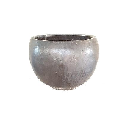 Ceramic Pot, Matt Black