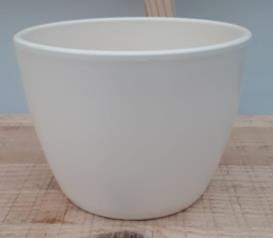 Ceramic Boule Pot Pearl Cream Matt 13.5/12/9.5 CM