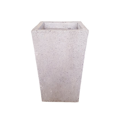 Concrete Pot, Grey Natural