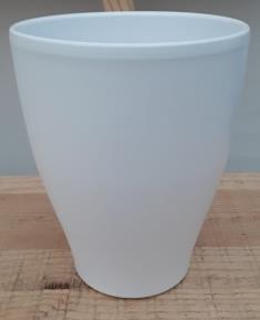 Ceramic Dida Orchid Pot White Matt 14 CM
