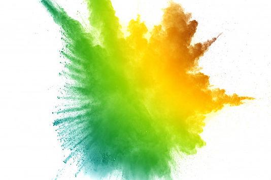 green-yellow-powder-explosion-white-back
