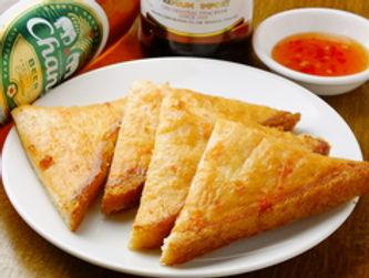 カノム パンナー クン(エビの揚げパン)Fried bread of shrimp Thai style