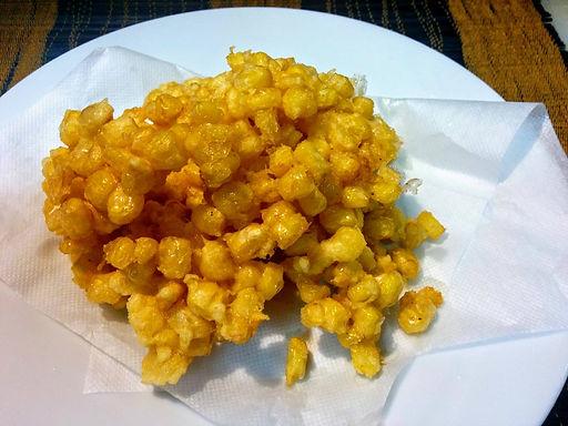 バップ チェン (トウモロコシのから揚げ)Vietmnmese deep fried corn)