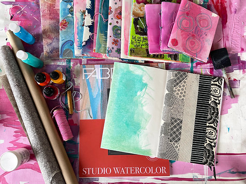 """Creative Sessions Art Journaling 01 """"Making The Journal"""""""