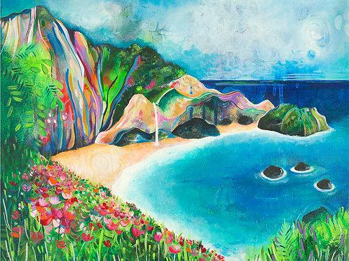 Julia Pfeiffer Beach Giclee Gallery Wrap