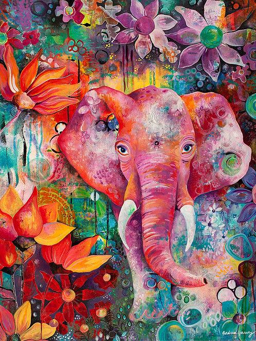Pink Ellie Giclee Art Print