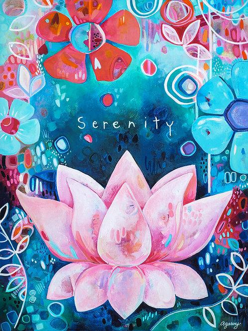 Serenity Lotus Fine Art Print