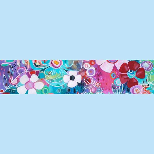 Summer Blossoms Silk Scarf - Long