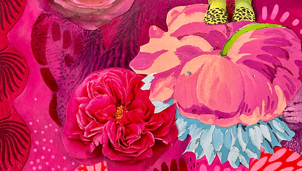 """Creative Sessions Art Journaling 02 """"Floral Theme"""""""