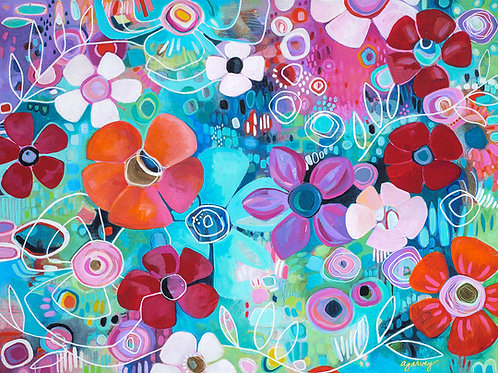 Summer Blossoms Giclee Gallery Wrap