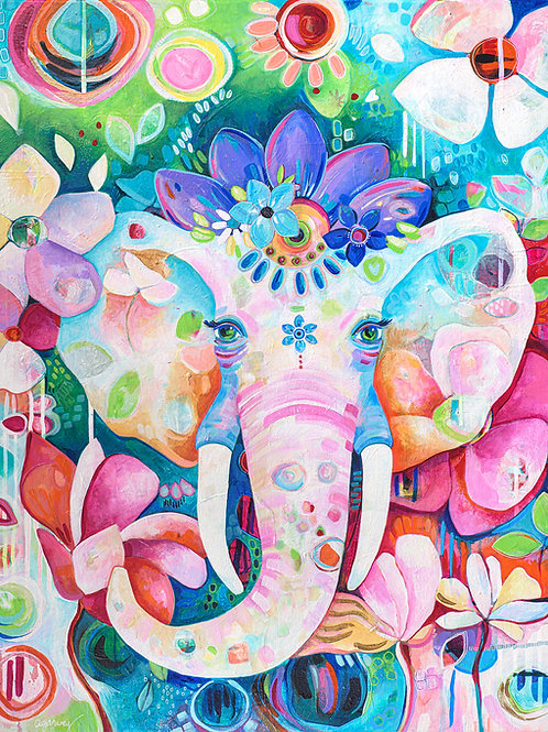 Queen Zahra Elephant Giclee Gallery Wrap