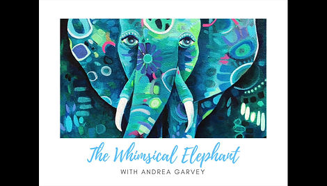 The Whimsical Elephant online course with Andrea Garvey