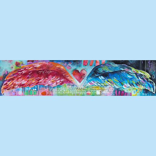 Wings of Love Silk Scarf  - Short