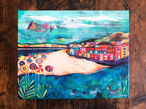 Capitola Beach Giclee Gallery Wrap