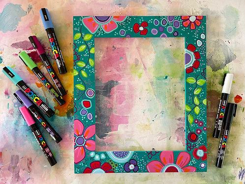 """Creative Session """"Painted Frame"""""""