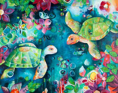 Sea Turtle Love