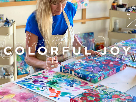 Colorful Joy - my new online art class is here!