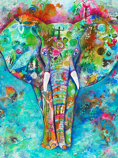 Rumi's Elephant Giclee Gallery Wrap