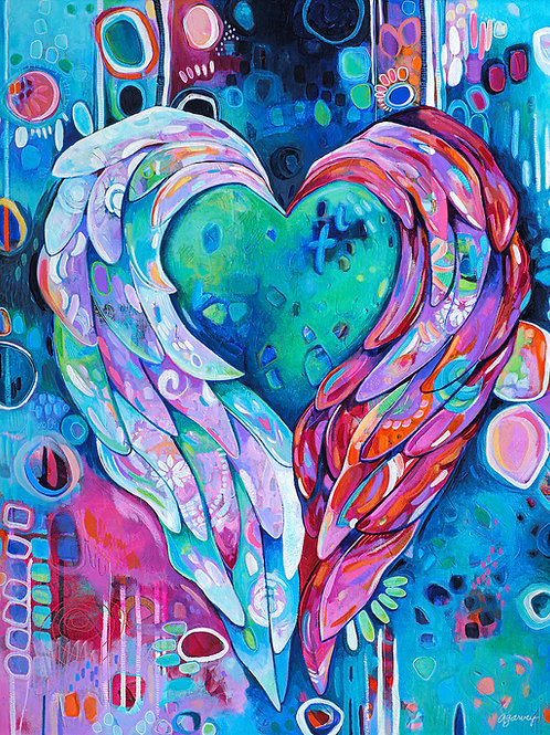 Winged Heart Art Print