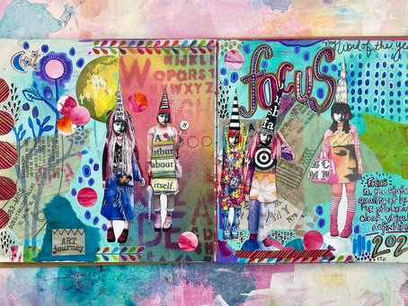 Current Art Journal Pages...