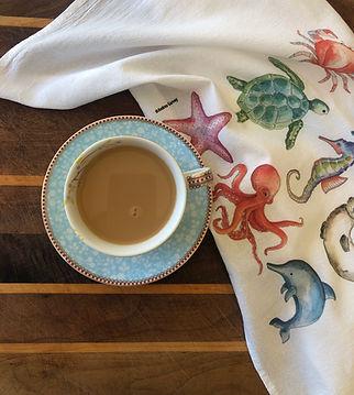 Sea Animal Tea Towel Andrea Garvey.JPG