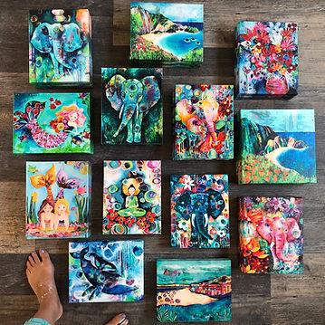 Gallery Wrap Canvas on floor_Andrea Garv