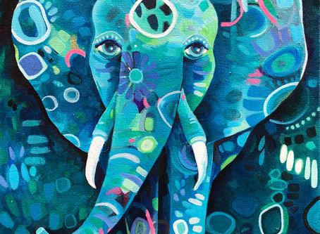 Paint your own whimsical elephant!
