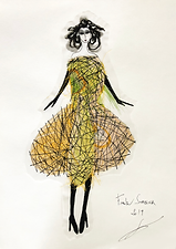 Frank Sorbier 2019 stitching couture sketch