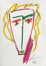 Postcard Frank Sorbier Visage flashy
