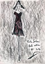 Dessin Franck Sorbier Collection Obi Haute Couture Eté 2014