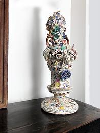 """""""Sicilia"""" statue  Earthenware and porcelain mosaic composition"""
