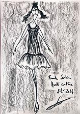 Dessin de collection Été 2014 | 29,7x42cm | Aquarelle et crayon gras, fond fusain sur papier