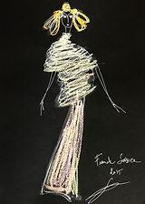 Frank Sorbier 2015 sketch couture