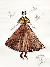 Dessin Franck Sorbier Haute Couture Eté 2020