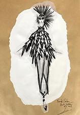 "2019 Summer ""Obi"" Franck Sorbier Haute Couture sketch"