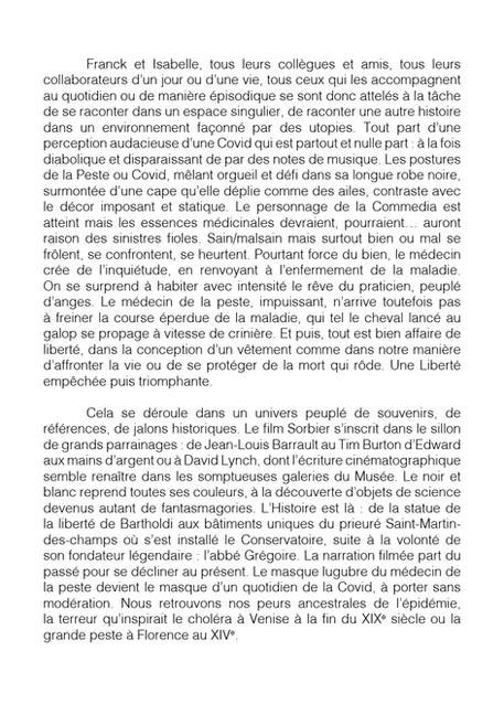 """Livret """"Il Medico della Peste"""" revelation - Franck Sorbier Haute Couture Maître d'Art Hiver-Winter 2020/2021"""