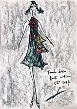 "2014 Summer ""Voyages"" Franck Sorbier Haute Couture sketch"