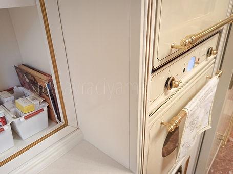 Удаление повреждения на кухонном гарнитуре