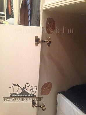 Вырванние фасад из стенки шкафы