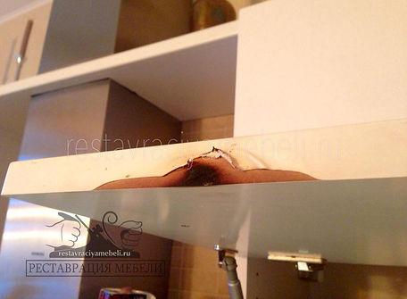 Ожог на кухонной мебели