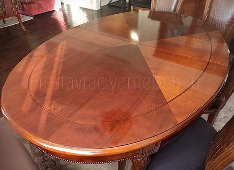 Восстановление поверхшости стола от беле