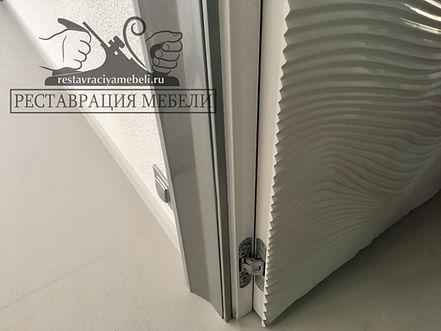 Удаление сколов на белой эмали мебели