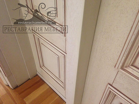 Устранение сколов на мебели из шпона