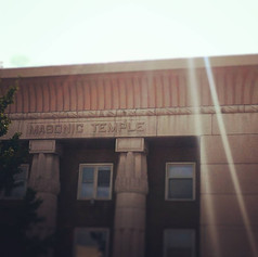 Favorite Signs of #LFK, entry No. 3: Masonic Temple (rays of light remix).