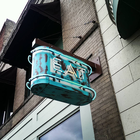 """Favorite Signs of #LFK, No. 7: """"Eat."""" Ladybird Diner gets straight to the point, doesn't it? Though a sign that says """"shovel delicious pie into your mouth"""" would be more accurate."""