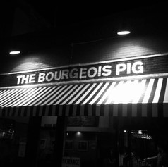 Favorite Signs of #LFK, No. 5: The Bourgeois Pig (Horsefeather special edition). A couple of years ago at the paper we tried to get to the bottom of a longstanding #LFK rumor that the Horsefeather drink was invented at this longtime townie hangout. It turned out not to be true, but it's still a great drink! Not pictured: Me drinking a Horsefeather.