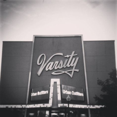 Favorite Signs of #LFK, No. 9: The old Varsity Theater. The Varsity opened in the '20s and showed movies until the late '90s before Urban Outfitters moved in. I never had the chance to see a movie there but a lot of townies say they miss it. The sign lives on, at least.